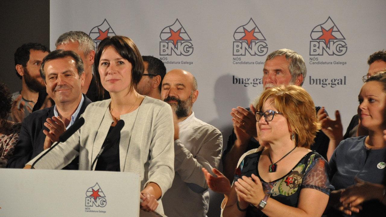 Ana Pontón, portavoz nacional do BNG, valora os resultados electorais