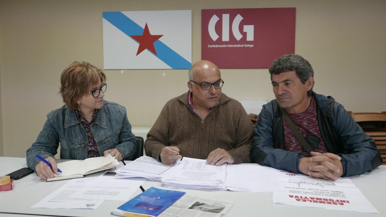 Montse Prado, Xabier Aboi e Daniel Rodas