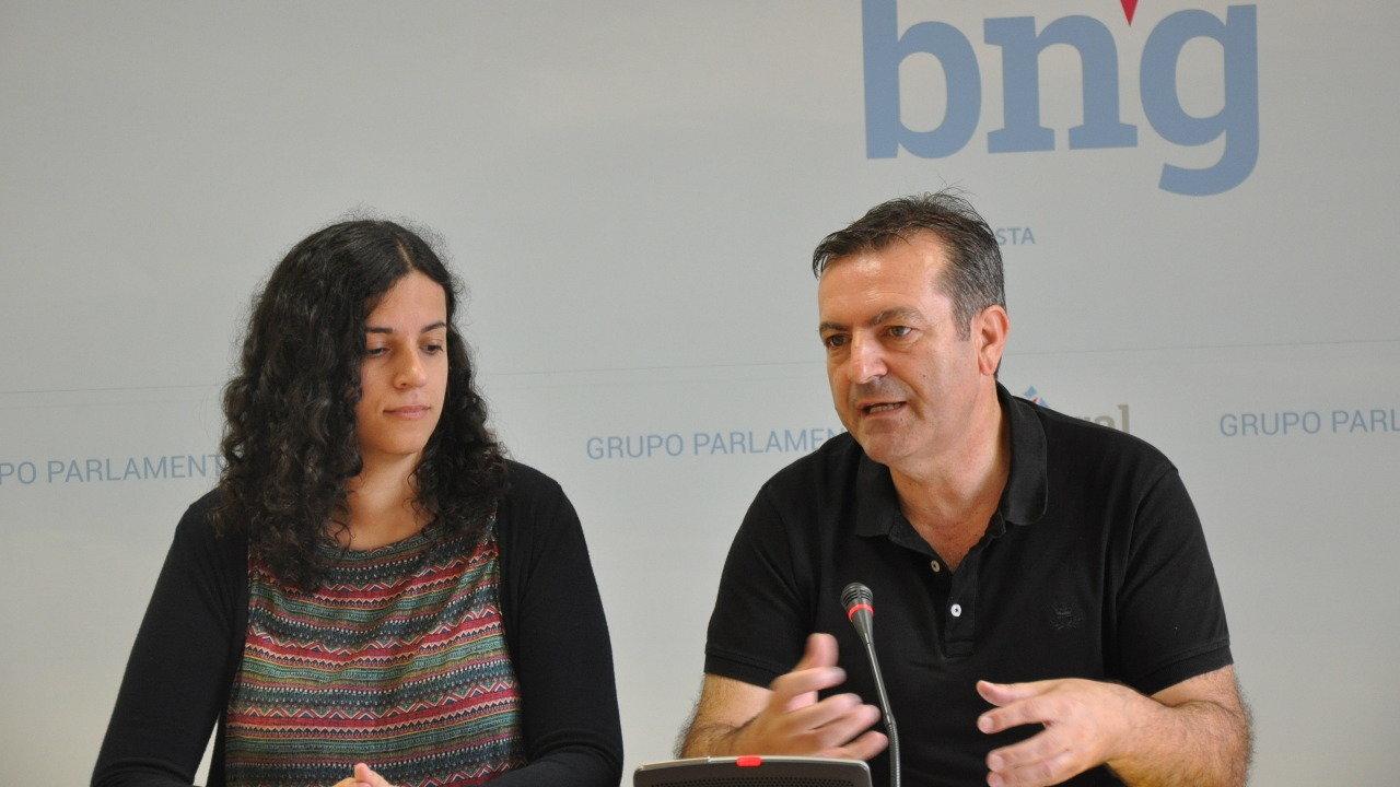 Noa Presas e Luís Bará rolda de prensa transporte público
