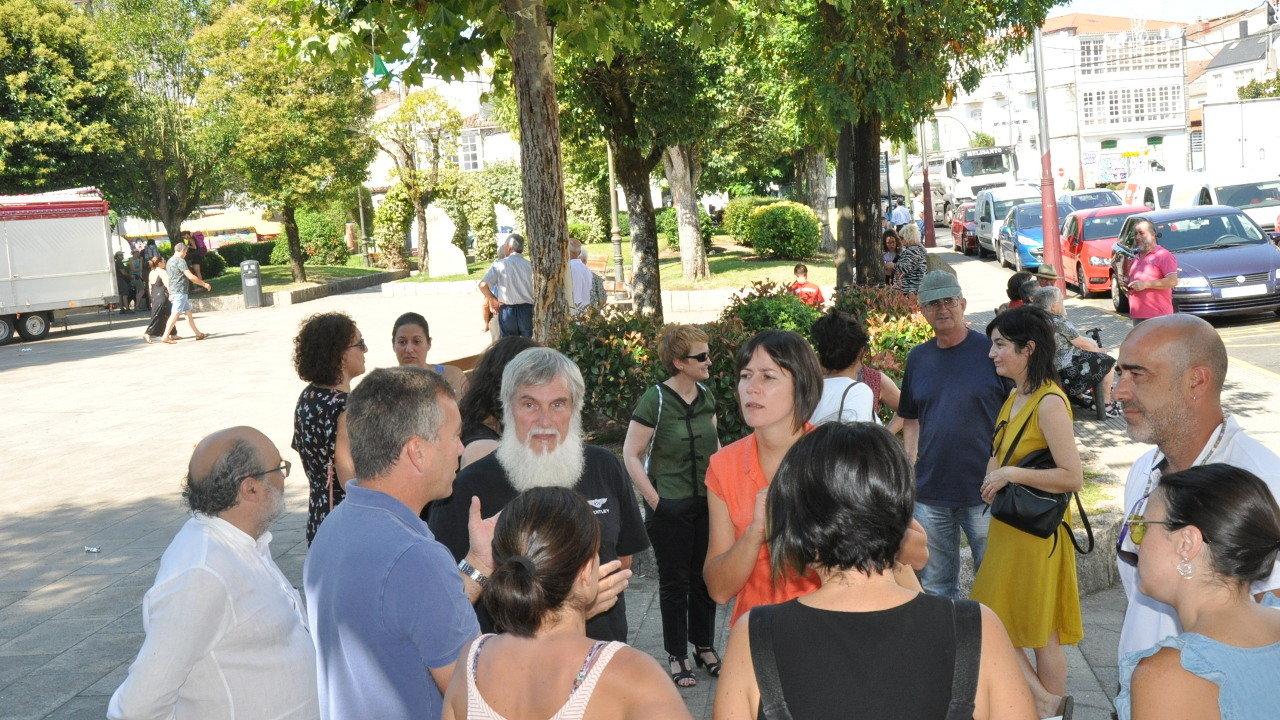 Ana Pontón e o deputado Xosé Luís Rivas  Mini na súa visita á planta de biomasa de Melide