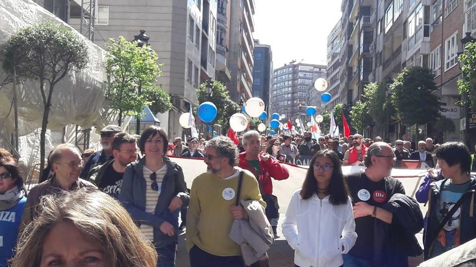 1 de maio en Vigo