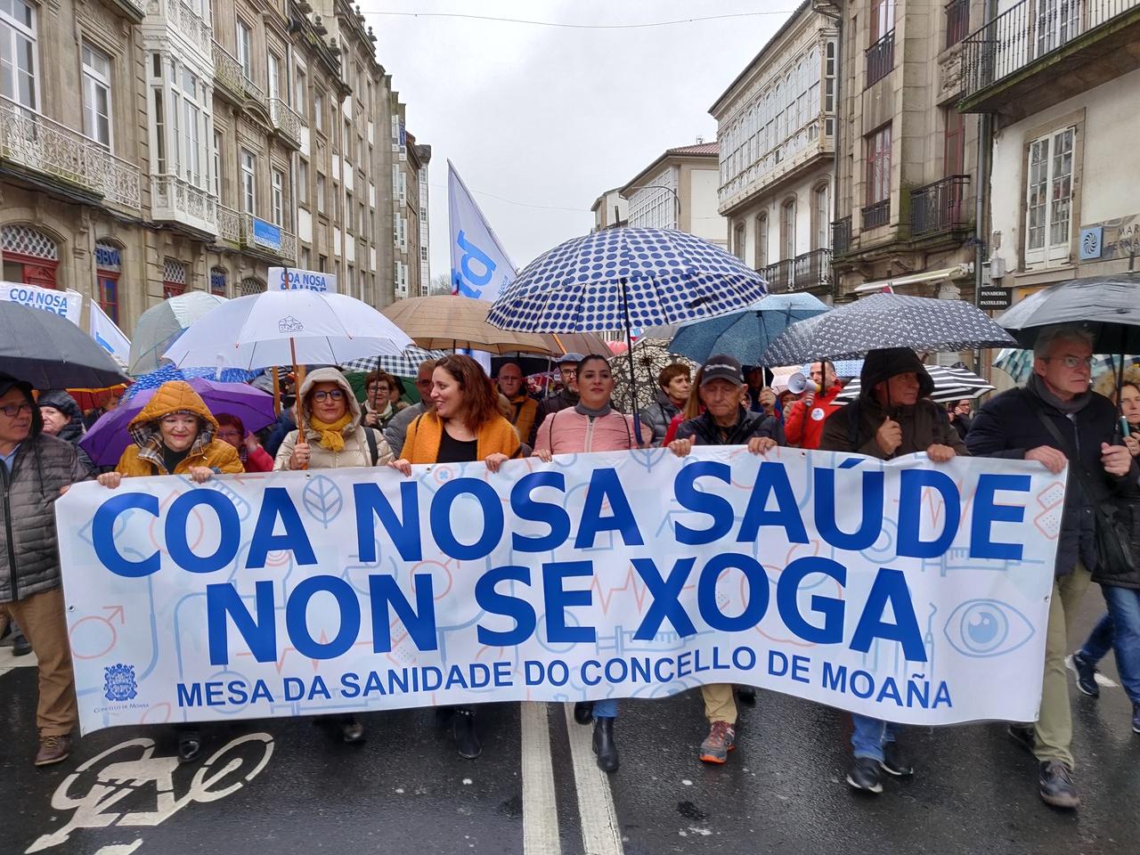 Manifestación en defensa da sanidade pública